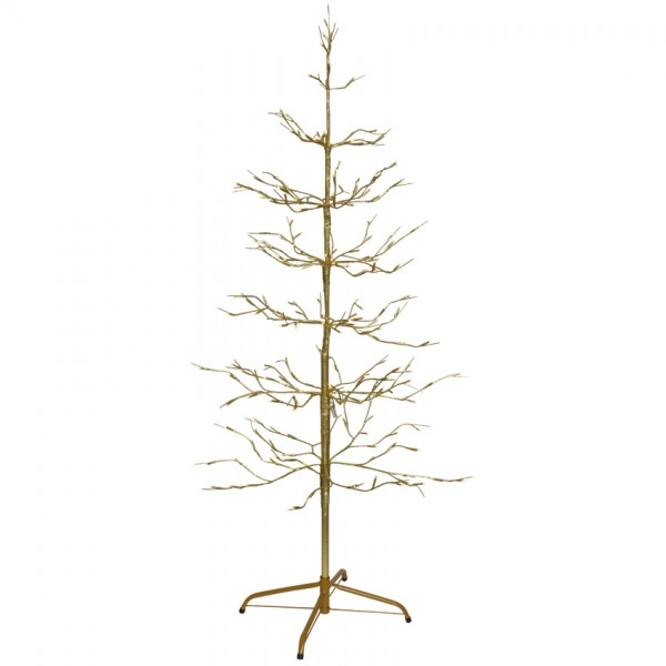 LED-Baum, gold, H 150cm, 200 warmweiße LEDs