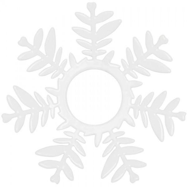 Fensterleuchterkränzchen, Ø 7cm, Metall weiß lackiert