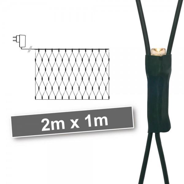 LED-Minilichternetz, 100LEDs warmweiß, 2 m x 1 m