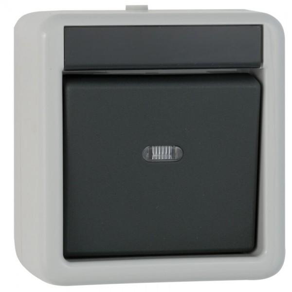 GIRA® - Aus/Wechsel-Schalter, AP/FR, grau/dunkelgrau 010630