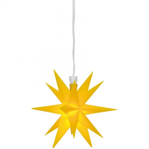 LED-Stern, gelb, Ø 12cm, 1 warmweiße LED, mit Trafo