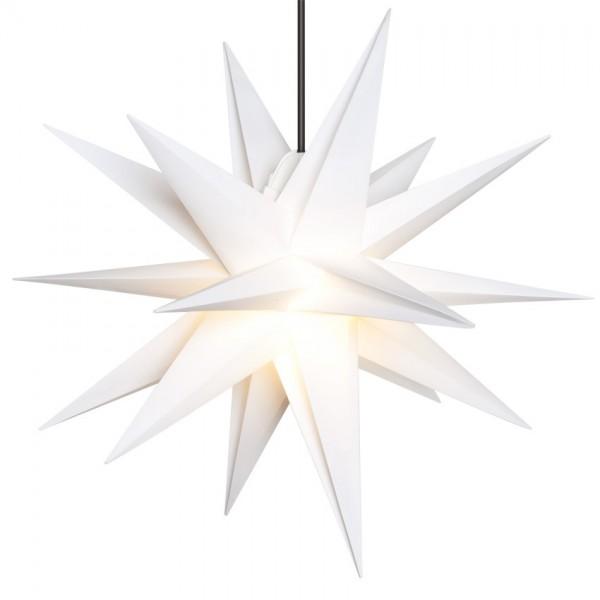 Weihnachtsstern, weiß, Ø55cm, 1 x E14/15W