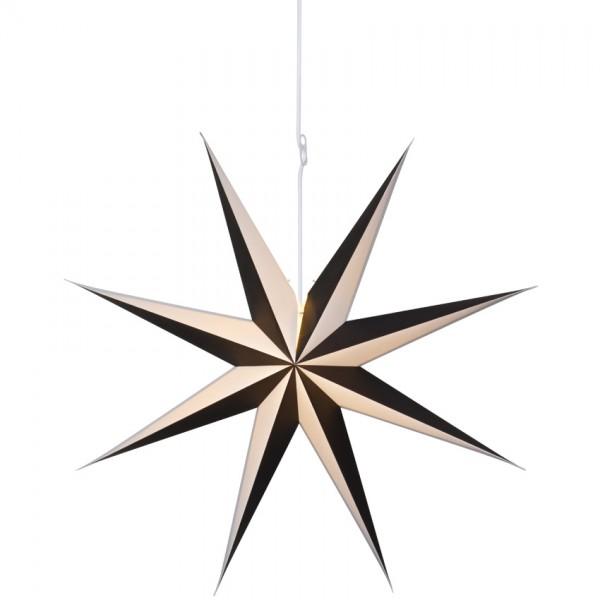 Weihnachtsstern, ALVA, schwarz-weiß, Ø 75cm, 1 x E14/25W