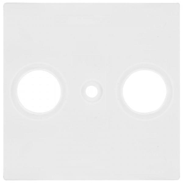 Panasonic® - Zentralplatte, für TV/Radio- Antennensteckdose, MERIDIAN, reinweiß