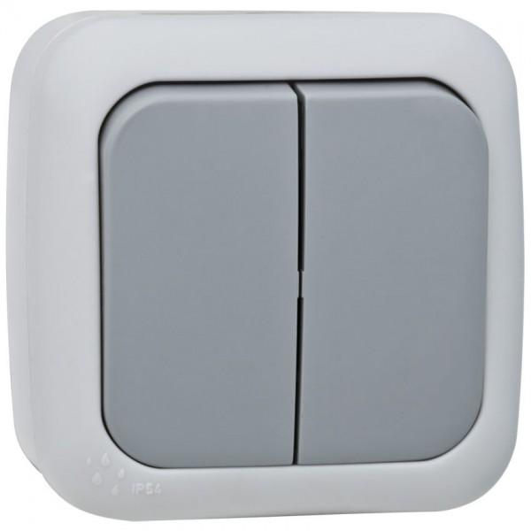 Panasonic® - AP/FR - PALMIYE - grau/dunkelgrau - Serien-Schalter