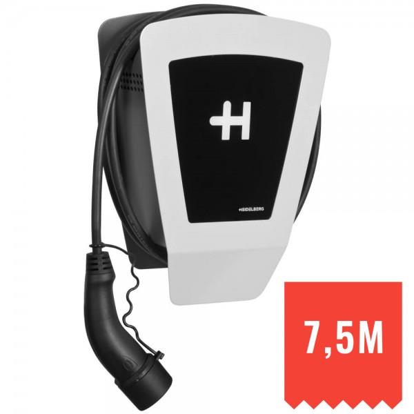 HEIDELBERG - Ladestation für E-Autos, WALLBOX ECO - 7,5m Ladekabel, 230V-400V-11 kW