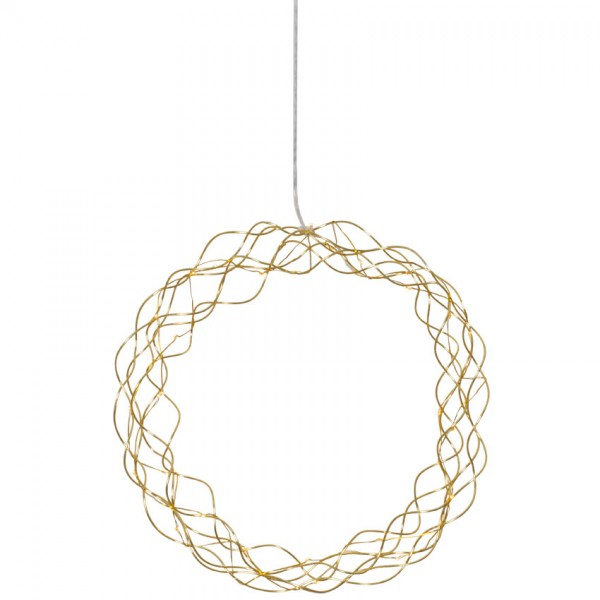 LED-Türkranz, CURLY, 30 warmweiße LEDs