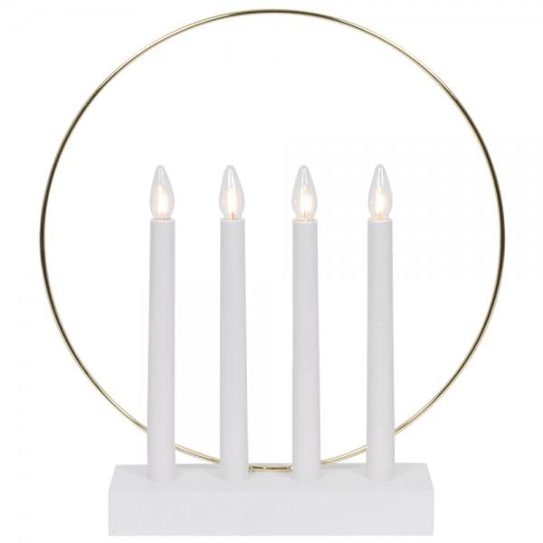 Weihnachtsleuchter, GLOSSY RING, 4 x E10/55V/3W