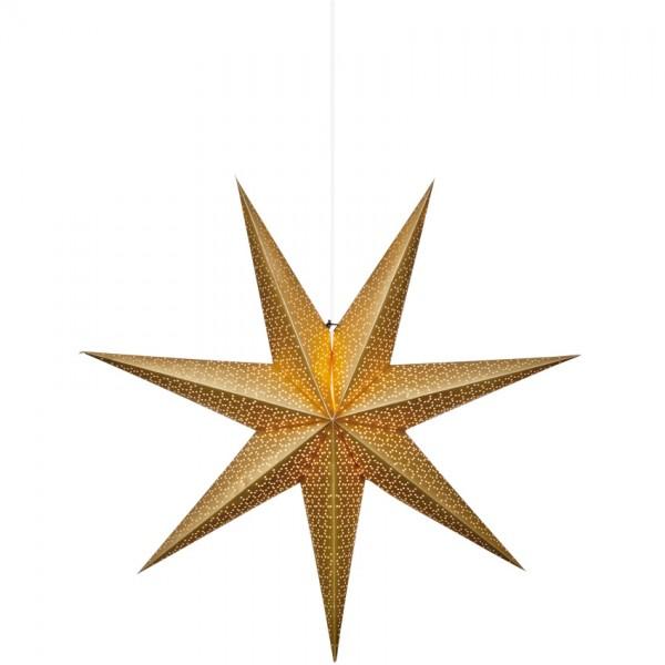 Weihnachtsstern, DOT 100, gold, Ø 70cm, 1 x E14/25W, Ausl. 220