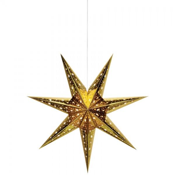 Weihnachtsstern, NANNA, gold, Ø 75cm, 1 x E14/25W
