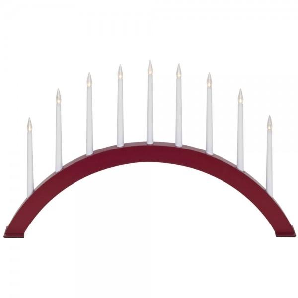 Weihnachtsleuchter, JAZZ, rot, 9 warmweiße LEDs