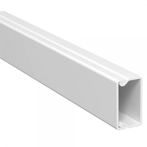 OBO® - 32m, Wand- und Deckenkanal, 15x30mm, WDK, reinweiß (RAL9010), Länge 2 m-WDK 15030RW
