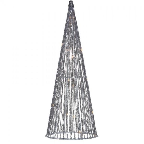 Pyramide, H41cm, Ø 15cm, 20 warmweiße LEDs