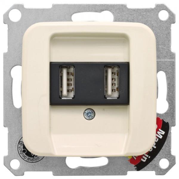 KLEIN®-SI - USB-Steckdose mit SI Kombi Abdeckung, 2xUSB, cremeweiß