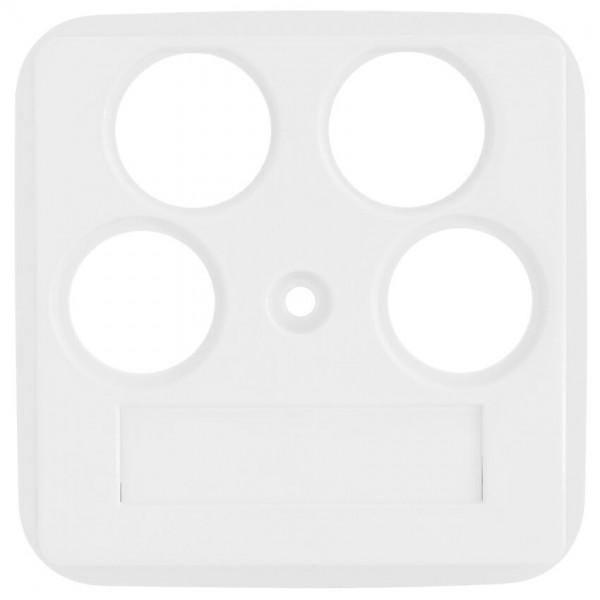 KLEIN®-SI - Zentralplatte Antennensteckdose 4-Loch reinweiß (50x50mm)