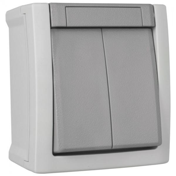 Panasonic® - AP/FR - PACIFIC - grau/dunkelgrau -Serien-Schalter