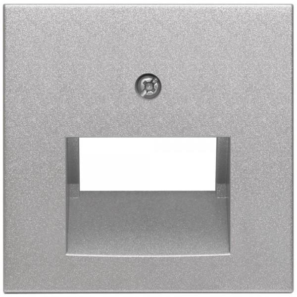 EFAPEL® - Zentralplatte, für 1-2-fach-UAE-Steckdose, LOGUS 90, alu-silber