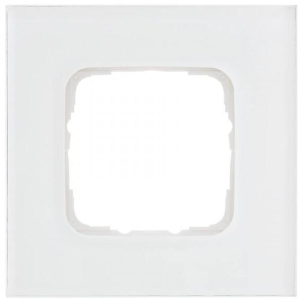 KLEIN®-SI - Abdeckrahmen Glas 1-fach weiß