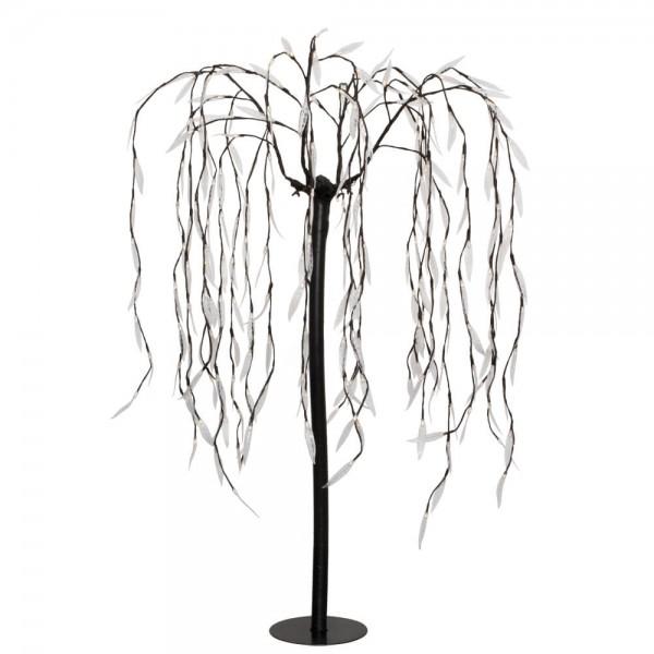 Trauerweide H 180cm, 400 warmweiße LEDs, 50 Flash-LEDs