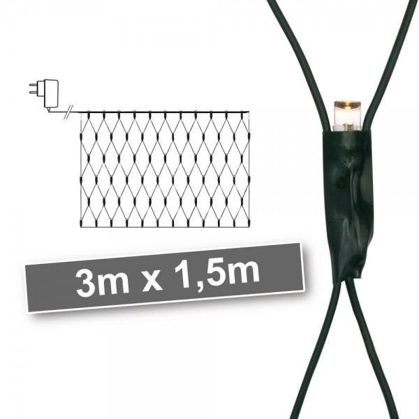 LED-Minilichternetz, 320 warmweiße LEDs, 3 m x 1,5 m