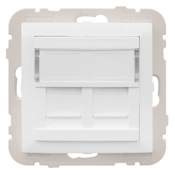 EFAPEL® - Zentralplatte, für UAE 1-2-fach, für Keystonemodule, mit Kunststoffträger, LOGUS 90,