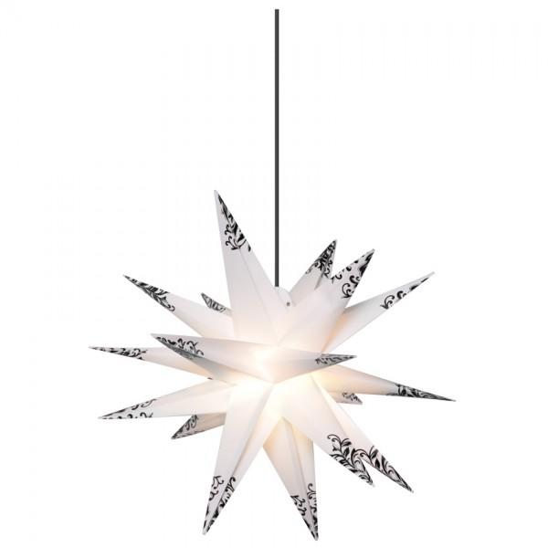Weihnachtsstern, Ø 55cm, 1 x E14/15W, schwarze Verzierungen