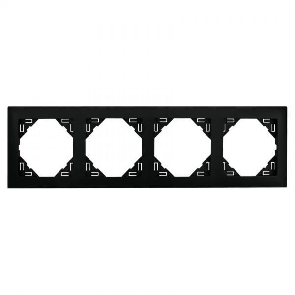 EFAPEL® - 4-fach Abdeckrahmen, LOGUS 90, schwarz matt