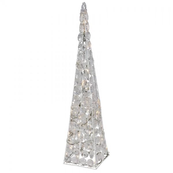 LED-Pyramide, H 60cm, 24 warmweiße LEDs