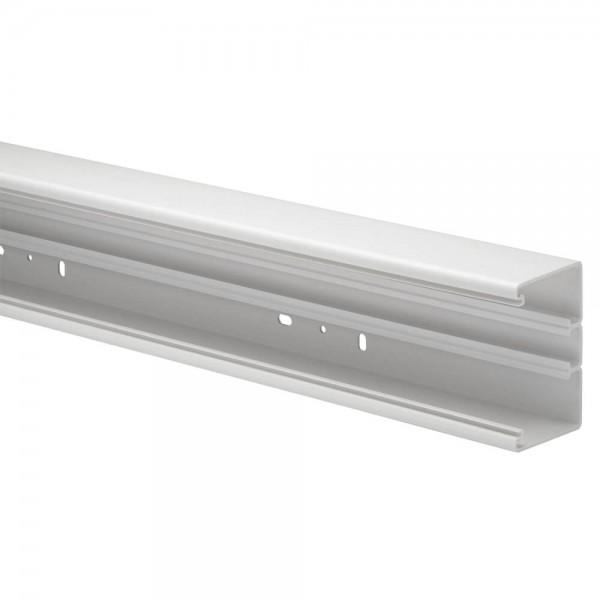 GEWISS® - PVC-Brüstungskanal, 70x130mm, Unterteil, reinweiß (RAL9010), Länge 2 m - 8 Stück, NP 5200