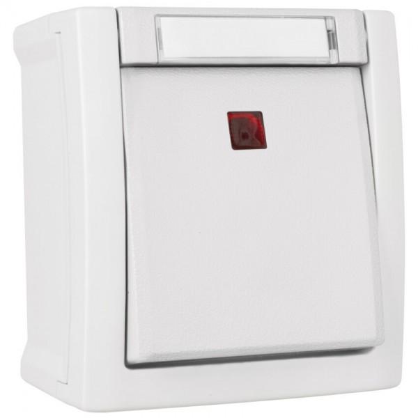 Panasonic® - AP/FR - PACIFIC - weiß - Aus-Kontroll-Schalter, beleuchtet