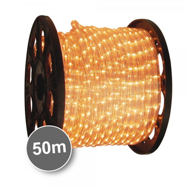 LED-Lichtschlauch 230V, 50 m Rolle, 2700K, 30 LEDs/3,4W pro Meter