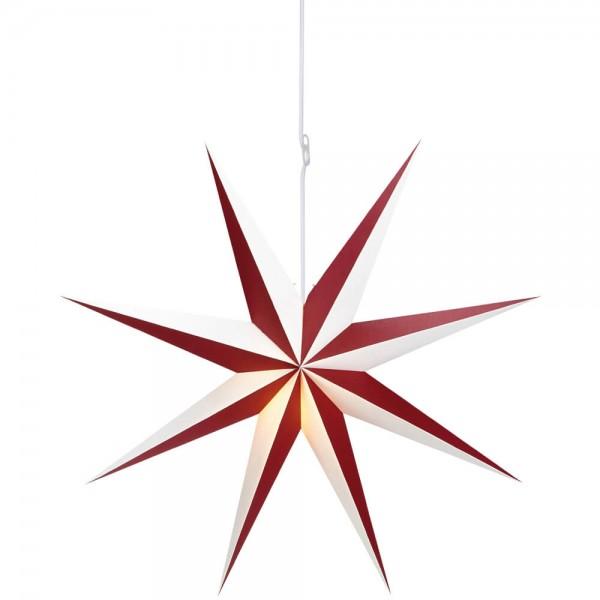 Weihnachtsstern, ALVA, bordeaux-weiß, Ø 100cm, 1 x E14/25W