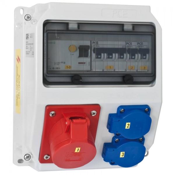 PCE Steckdosenverteilung LOFER (mit FI-Schutzschalter)