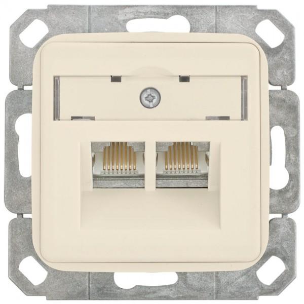 KLEIN®-SI - CAT6 Datendose AMJ45-8/8 cremeweiß
