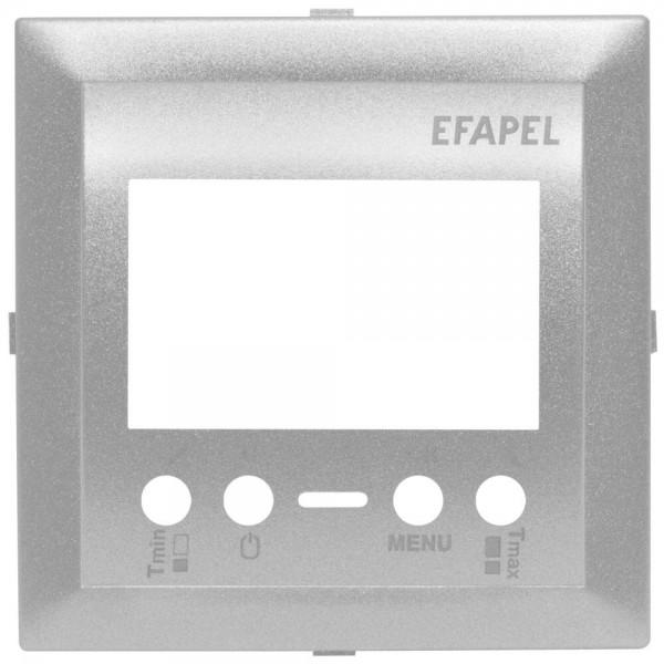 EFAPEL® - Zentralplatte, für Thermostat, LOGUS 90, alu-silber
