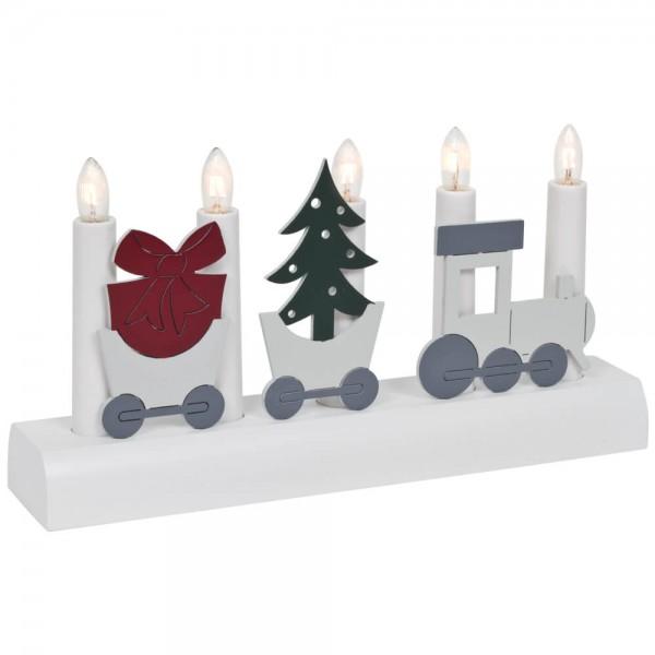 Weihnachtsleuchter, JULIA, Zug, 5 x E10/55V/3W