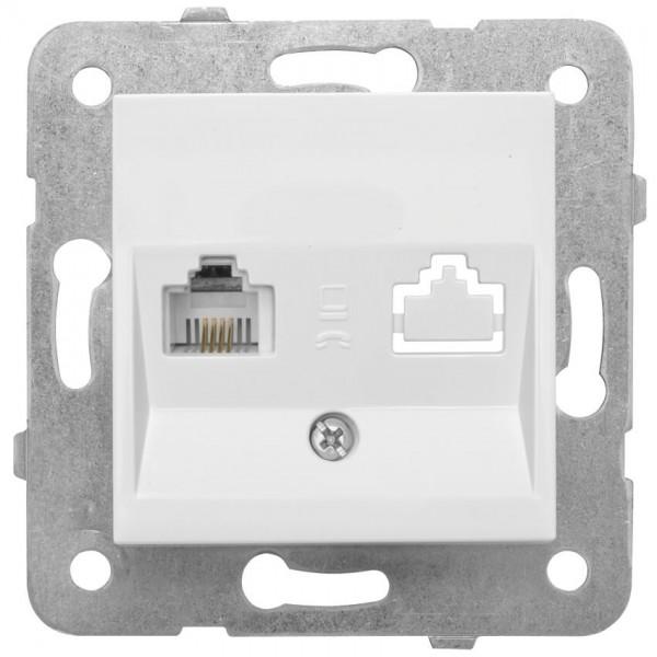Panasonic® - Kombi-UAE-Anschlussdose für ISDN, RJ11, UAE 6, mit Zentralplatte 50 x 50 mm, MERIDIAN,