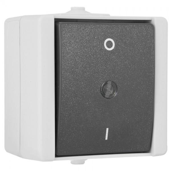 KOPP® - AP/FR - proAQA® - grau/hellgrau - Aus-Schalter, 2-polig