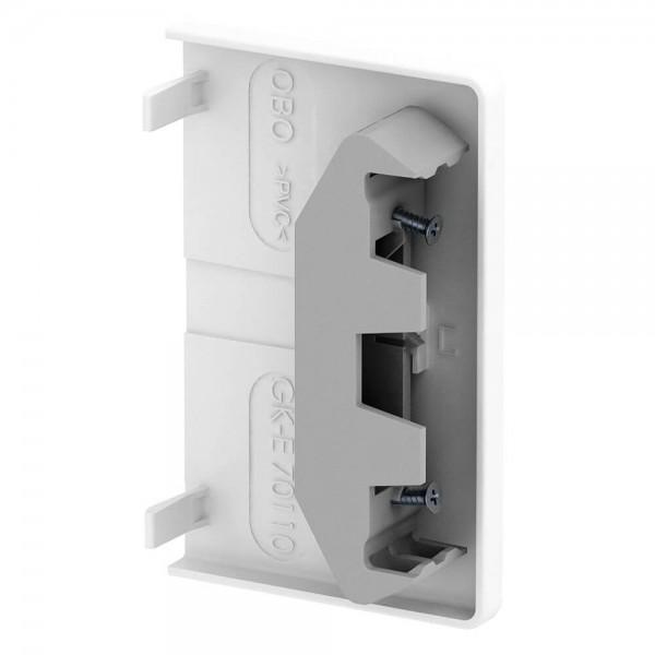 GEWISS® - Endstück für Brüstungskanal, reinweiß (RAL 9010)-70 x 130 mm