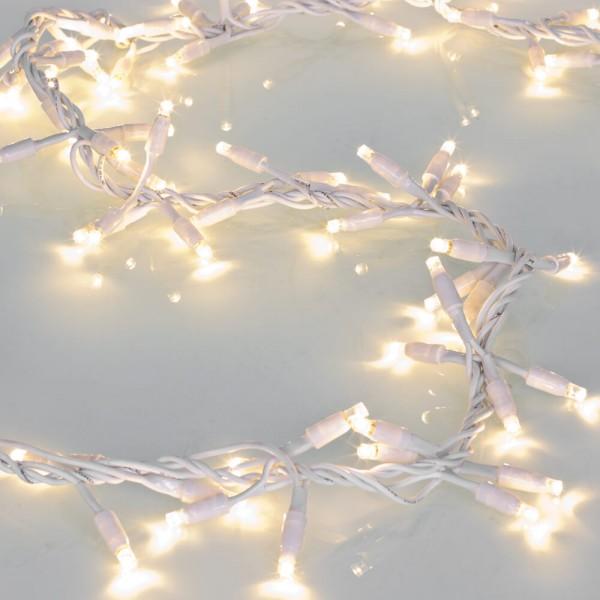 LED-Clusterlightkette, weiß, L 2m, 100 warmweiße LEDs