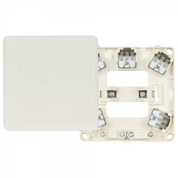 KLEIN® - Auf- oder Unterputz Herdanschlussdose mit Spreizkrallen 5 x 4,0mm², H 23, weiß AP/UP