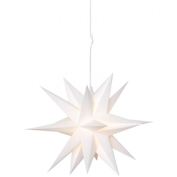 Weihnachtsstern, SKILLINGE 3D, Ø 50cm, weiß, 1 x E14/25W