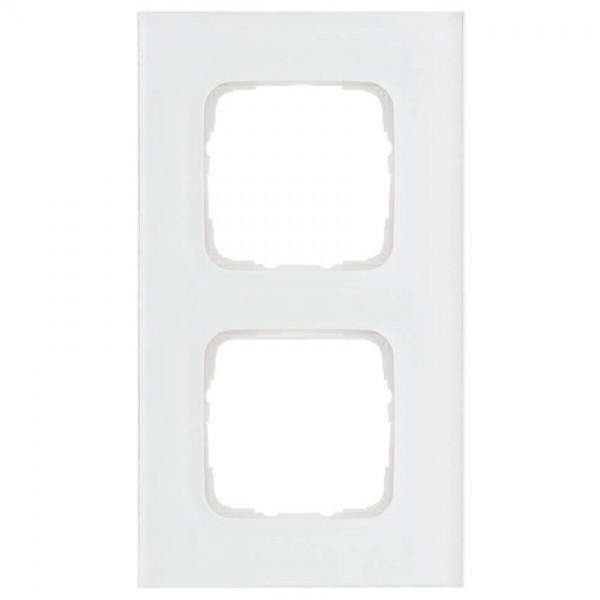 KLEIN®-SI - Abdeckrahmen Glas 2-fach weiß