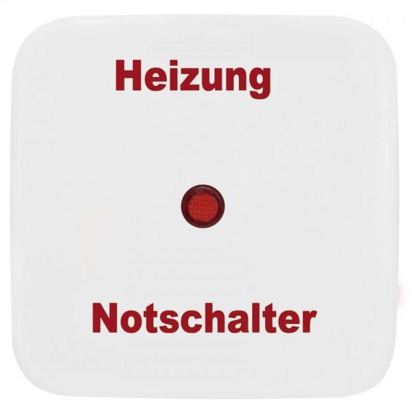 KLEIN®-SI - Einzelwippe reinweiß mit Symbol Heizung Notschalter