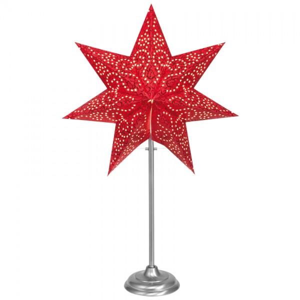 Weihnachtsleuchter, ANTIQUE MINI, rot-chrom, H 55cm, 1 x E14/25W