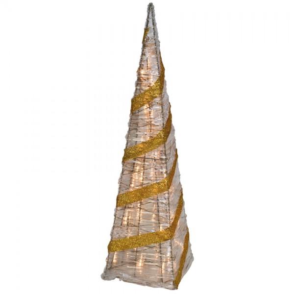 Pyramide, H 59cm, B 16cm, 35 Minilichter