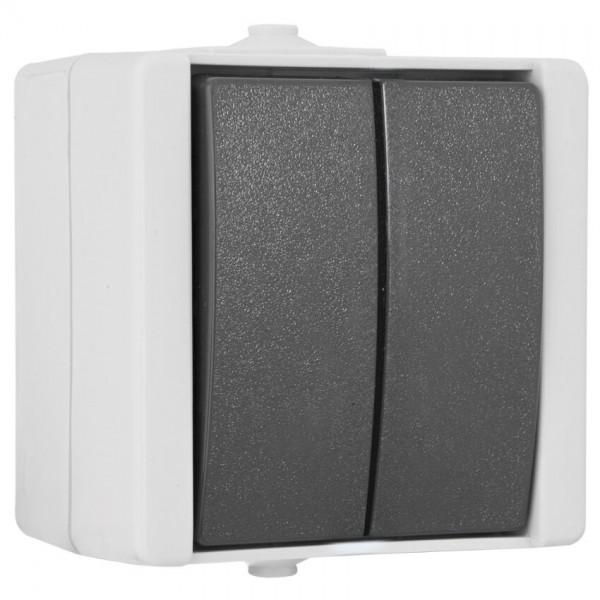 KOPP® - AP/FR - proAQA® - grau/hellgrau - Serien-Schalter