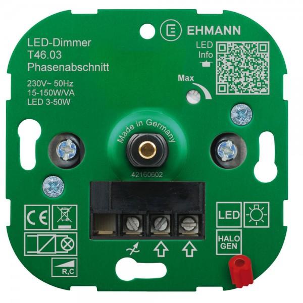 Dimmer-Einsatz UP für LED Druck-Wechsel 15-150 W