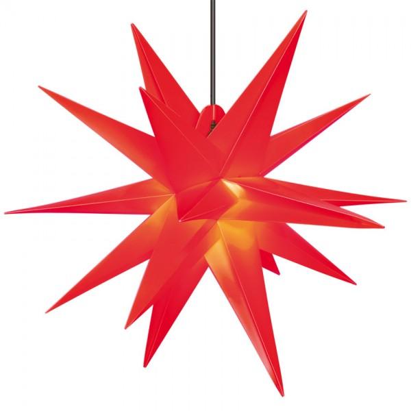 Weihnachtsstern, rot, Ø55cm, 1 x E14/15W