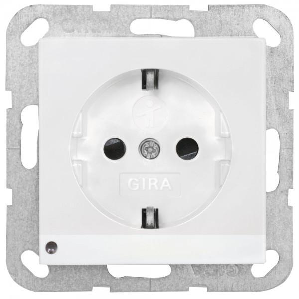 GIRA® - Kombi-Steckdose, SYSTEM 55, reinweiß glänzend, mit Orientierungslicht